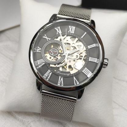 Механические часы Forsining Rich (silver)