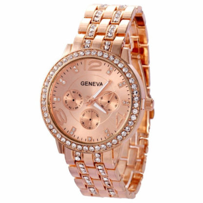Женские часы Geneva (rose gold)