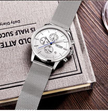 Кварцевые часы Megir 2011 (silver)