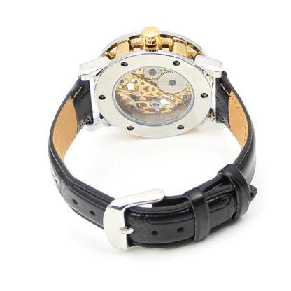 Механические часы Winner Skeleton Simple Golden