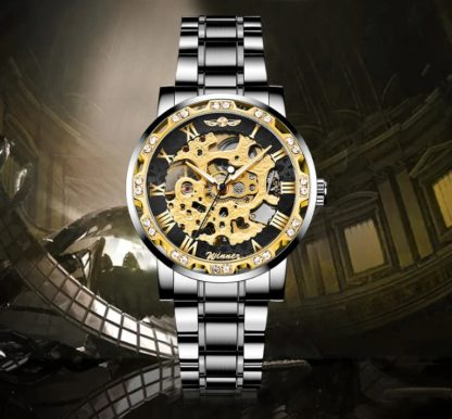 Механические часы Winner Stones (black-gold)