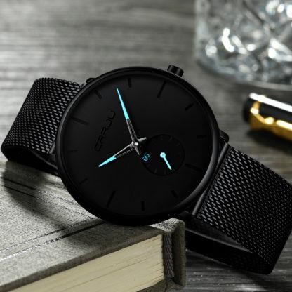 Кварцевые часы CRRJU (black-blue)