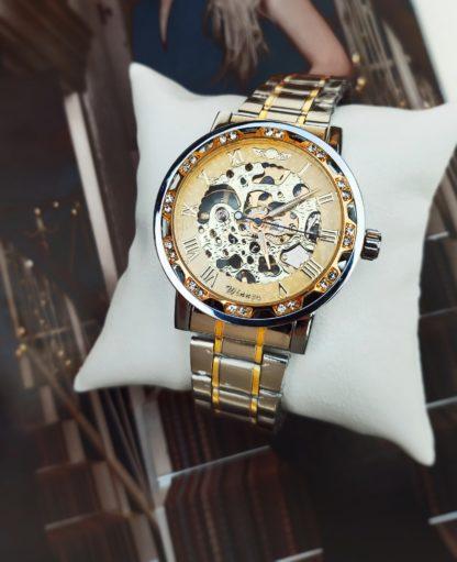 Механические часы Winner Stones (silver-gold)