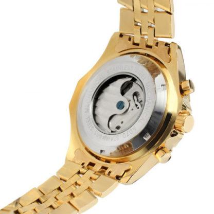 Механические часы с автоподзаводом Jaragar (gold-black)