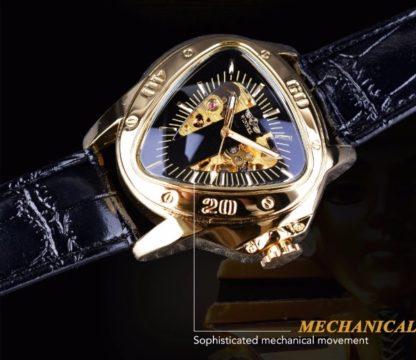 Механические часы с автоподзаводом Winner Triangle (black-gold)