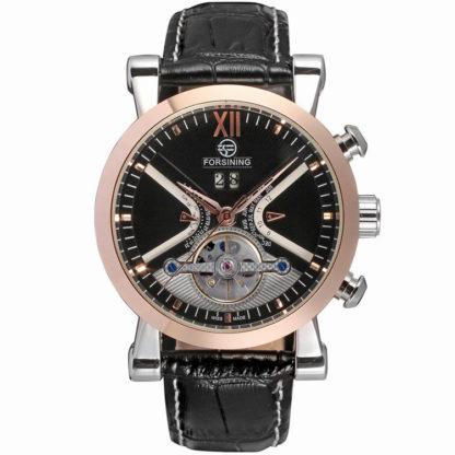 Механические часы с автоподзаводом Forsining (black-bronze)