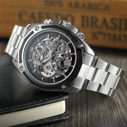 Механические часы Forsining Skeleton (silver)