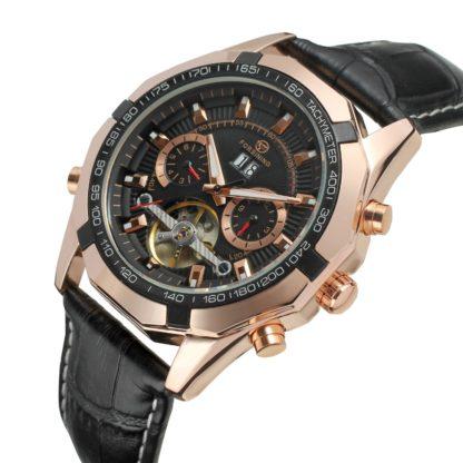 Механические часы с автоподзаводом FORSINING TEXAS (rose-gold black)