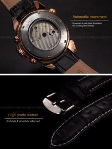 Механические часы с автоподзаводом Jaragar (rose gold white)