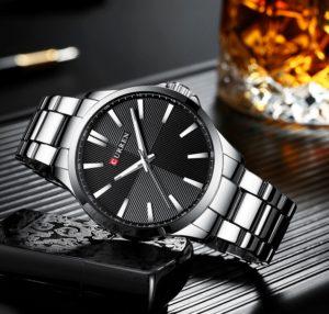 Мужские часы Curren 8322 (silver-black)