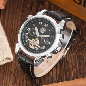 Механические часы с автоподзаводом Jaragar (silver black)
