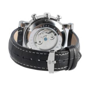 Механические часы с автоподзаводом Forsining (black-silver)