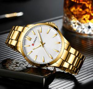 Мужские часы Curren 8322 (gold-white)
