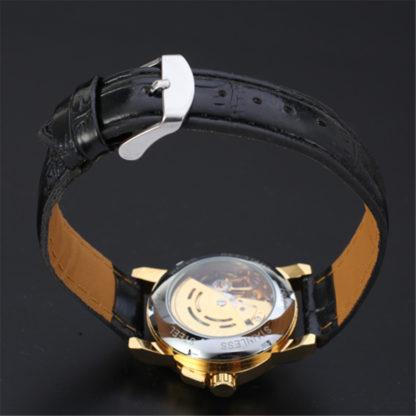 Механические часы с автоподзаводом Winner Mini (black-gold)
