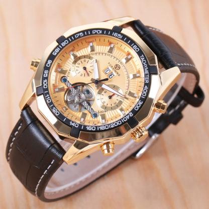 Механические часы с автоподзаводом FORSINING TEXAS (gold)