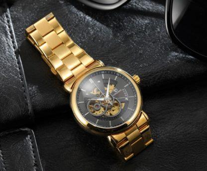 Механические часы с автоподзаводом Forsining (gold)