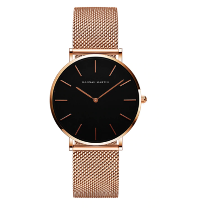 Часы Hannah Martin (rose gold/ black)