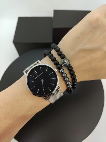Часы Hannah Martin (silver/ black)